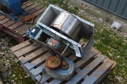 Elevator Head, 240mm wide on drum, with electric m
