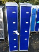 Eight Assorted Lockers (no keys) loading charge -