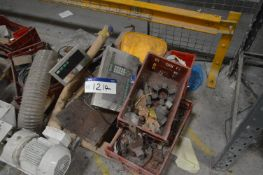 Assorted Equipment, on pallet, with digital weighe