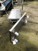 Three Stainless Steel Mobile Trays loading charge