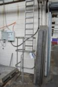 Ten Rise Stainless Steel Access Ladder, approx. 3.