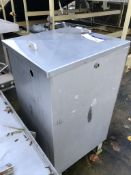 Stainless Steel Lidded Tank, dimensions approx. 0.