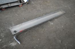 Stainless Steel Drainage Tray, approx. 1.6m x 200m