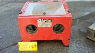 Clarke Bench Top Sand Blast Cabinet, complete. fre