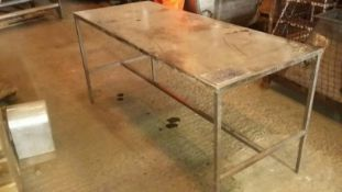 Stainless Steel Preparation Table, dimensions appr