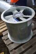Galvanised Steel Cased 530mm dia. Axial Flow Fan,