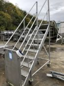 Mobile Nine Rise Stainless Steel Steps, with side