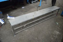 Stainless Steel Boot/ Shoe Rack, approx. 2.5m x 35
