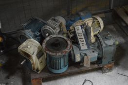 Electric Motors and Gear Boxes, on pallet (Note: T