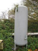 Vertical Air Receiver, on legs, 800mm dia. x 2500m