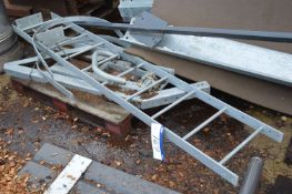 Galvanised Steel Ladder, approx. 2.5m high, lot lo