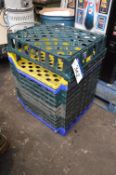 12 Plastic Stacking Trays, each approx. 700mm x 60