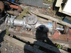 Waukesha Cherry Burrell Gear Pump, with 0.75kW dri