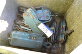 Approx. Ten Cable Winch/Hoists, in steel chest (ch