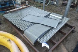 Approx. Eight Open Mesh Stainless Steel Sheets, ea