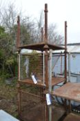 Three Steel Post/ Cage Pallets, each approx. 1.2mm