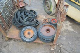 Assorted Wheels, in cage pallet (cage pallet exclu