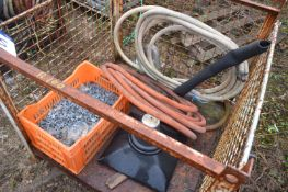 Loose Contents of Cage Pallet, including pipe and