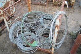 Assorted Pull Lift Cables, as set out in cage pallet, mainly approx. 9mm dia. (cage pallet