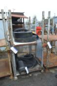 Two Steel Post/ Cage Pallets, each approx. 1200mm