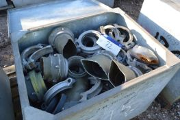 Assorted Alloy Pipe Flanges & Couplings, mainly 15