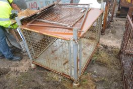 Steel Cage Pallet, approx. 1.2m x 1m x 750mm deep