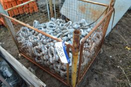 Galvanised Steel D Shackles, in steel cage pallet