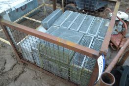 Approx. 13 Galvanised Steel Dipping Trays, mainly approx. 550mm x 400mm x 130mm deep, in post pallet