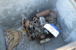 Two Cylinder Diesel Engine, in steel chest (chest
