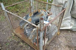 Seven Assorted Electric Motors, (cage pallet exclu