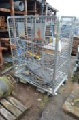 Wire Mesh Collapsible Side Trolley, approx. 1.2m x