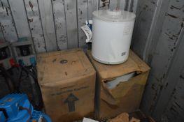 Three Santon 3kW 30 litre Electric Water Heaters,