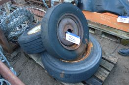 Three Tyres & Wheels, on pallet
