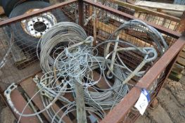 Assorted Wire Rope, in steel cage pallet (steel ca