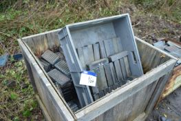 Fired Ceramic Tiles, set out in timber box crate