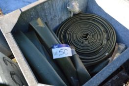 Mainly 100mm Lay Flat Hose, in steel chest (chest