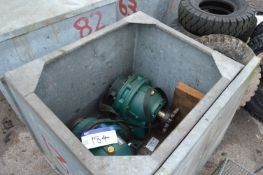Two SM-Cyclo H3185/14 Gear Units, in steel chest (