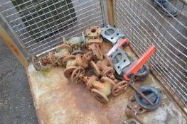 Assorted Valves & Equipment, in post pallet (post