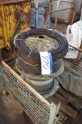 Wire Rope, on two drums in cage pallet (cage pallet excluded)