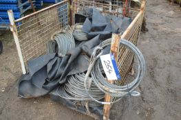 Assorted Wire Rope, as set out, mainly 8mm dia., in steel cage pallet (cage pallet excluded)