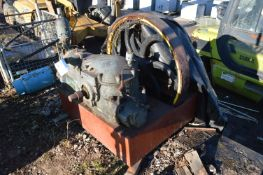 National HORIZONTAL GAS STATIONARY ENGINE, fitted