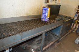 Parts Washing Bench, approx. 3.2m long, with circu