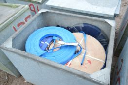 Mainly 26mm x 100m Reels Plastic Pipe, in steel ch