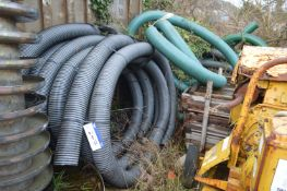 Assorted Flexible Piping, as set out in corner, approx. 160/ 180mm dia.