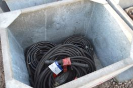 Assorted Lengths of Hose, with couplings, in steel