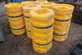 Eight Addgards Plastic Post Guards