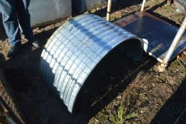 Approx. Five Corrugated Galvanised Steel Panels, e