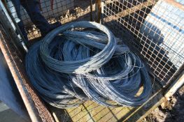 Mainly 2mm dia. Galvanised Steel Wire, in one cage