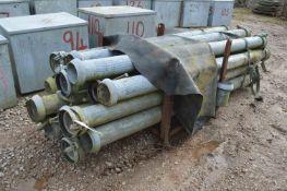 Galvanised Steel Pipe Tank and Couplings in post p