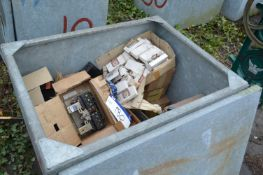 Assorted Electrical Equipment, in steel chest (che